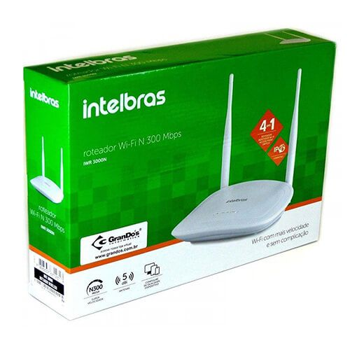 Roteador WL 02ANT Intelbras IWR3000N
