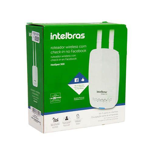 Roteador WL Intelbras Hotspot 300MBPS