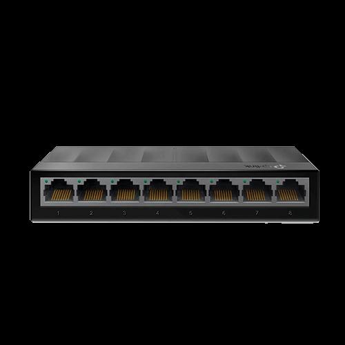 Switch 08 Portas Tplink Ls1008G 10/100/1000 Gigabit Black