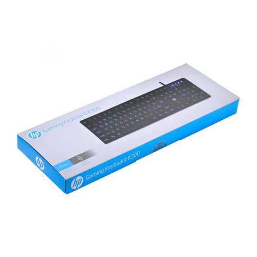Teclado Gamer HP K300 Led Azul