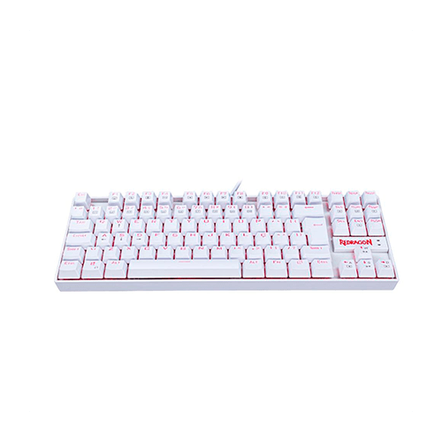 Teclado Gamer Mecânico Redragon Kumara,K552W, Branco, Switch Blue, Led Red