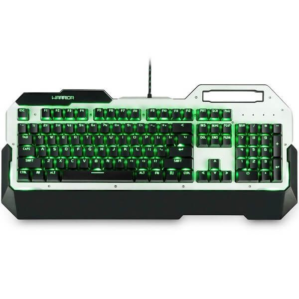 Teclado Usb Mecânico Gamer Warrior Tc217 Led Green