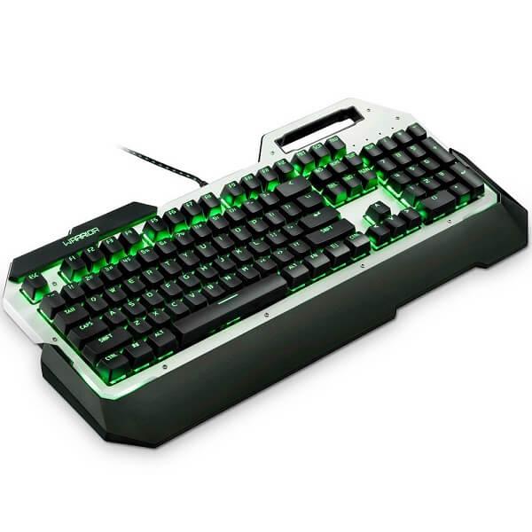 Teclado Usb Mecânico Gamer Warrior Tc217 Led Green