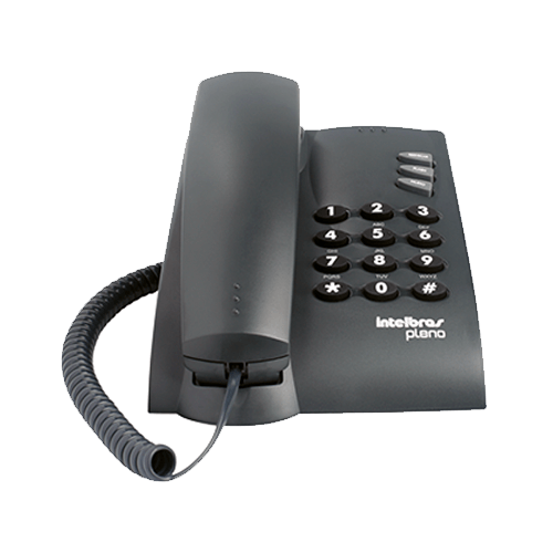 Telefone de Mesa e Parede INTELBRAS Pleno sem chave Preto