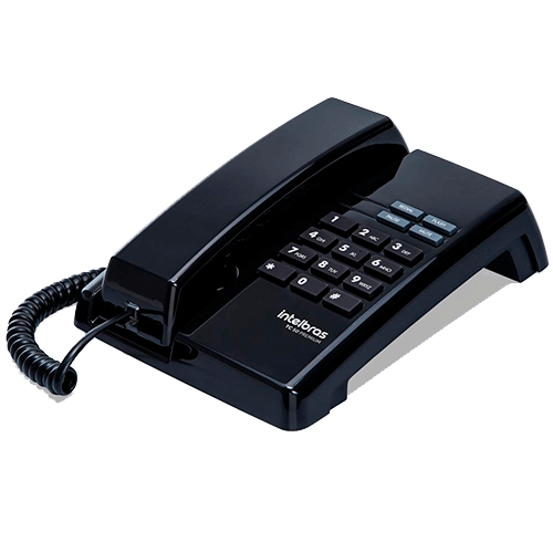Telefone de Mesa e Parede INTELBRAS Premium Preto