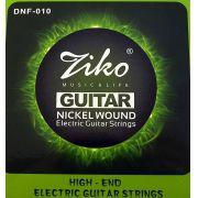 Encordoamento Ziko em Aço 0.10 para Guitarra DNF-010