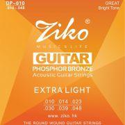 Encordoamento Ziko em Aço 0.10 para Violão DP-010