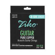 Encordoamento Ziko em Aço 0.10 para Violão DR-010