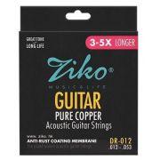 Encordoamento Ziko em Aço 0.12 para Violão DR-012