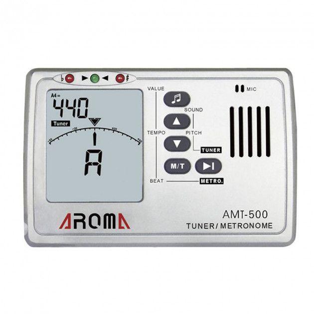 Afinador Metronomo Aroma AMT-500 para Guitarra Violão e Contrabaixo