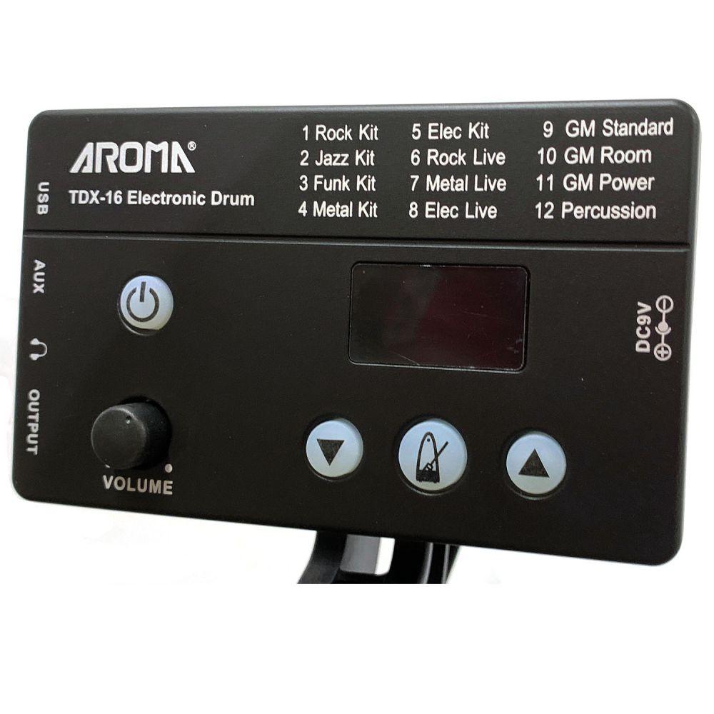 Bateria Eletrônica Aroma TDX-16