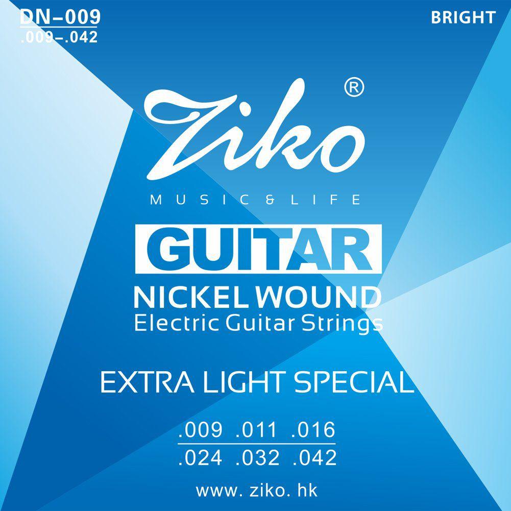 Encordoamento Ziko em Aço 0.09 para Guitarra DN-009