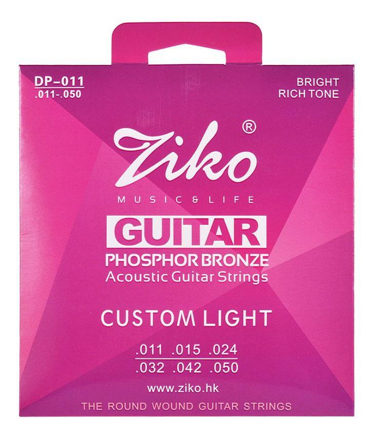 Encordoamento Ziko em Aço 0.11 para Violão DP-011