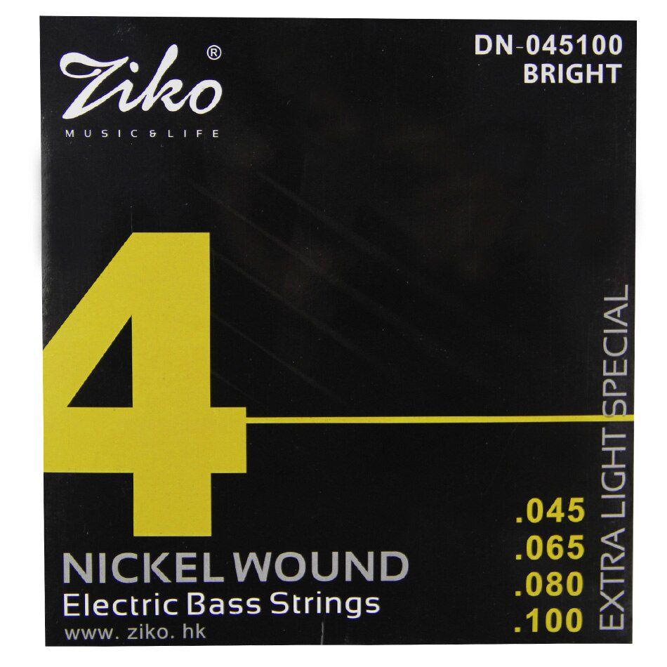 Encordoamento Ziko em Aço 0.45 para Contrabaixo 4 Cordas
