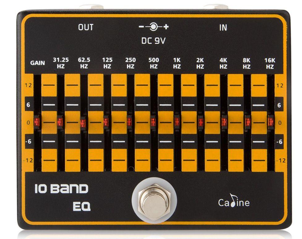 Pedal de Guitarra Caline Equalizador EQ. 10 Bandas