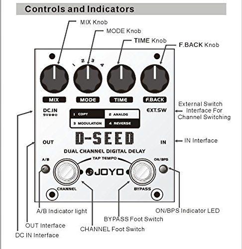 Pedal Digital Joyo D-Seed Dual Delay