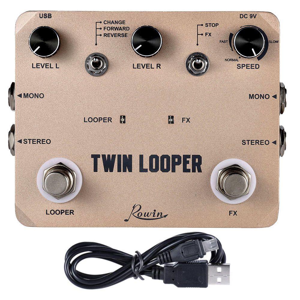 Pedal de Guitarra Rowin Twin Looper