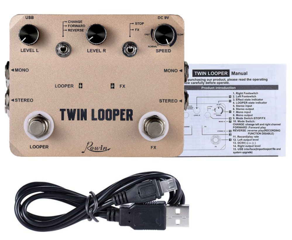Pedal de Guitarra Rowin Twin Looper