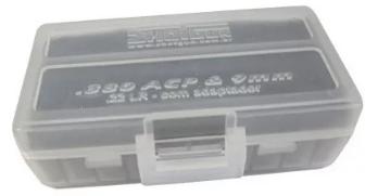 Caixa para 50 Munições .380/9mm/.22LR - Cores Variadas - Shotgun