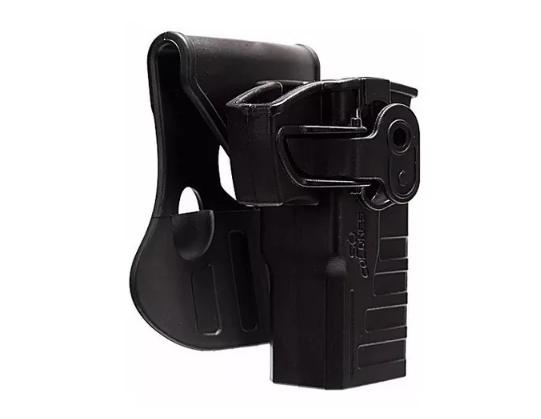 Coldre Externo em Polímero Rotativo com Trava para G2C e Glock .380/.40/9mm / Destro - Só Coldres