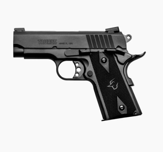 Pistola Taurus PT 1911 Officer  - Calibre .45 ACP 3,5