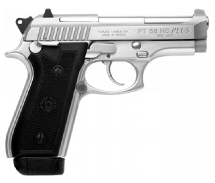 Pistola Taurus PT 58 HC Plus Cal. 380 Auto. - 19 Tiros - Inox Fosco