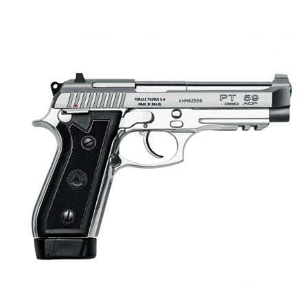 Pistola Taurus PT 59S/19 .380 Auto - Inox Fosco