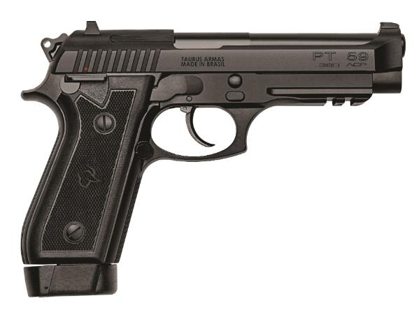 Pistola Taurus PT 59S - Cal.380 ACP  19 Tiros - Oxidado Fosco