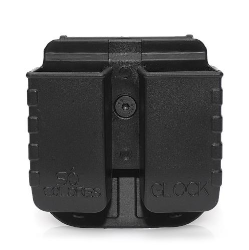 Porta Carregador Duplo Ostensivo em Polímero para Glock .380/.40/9mm