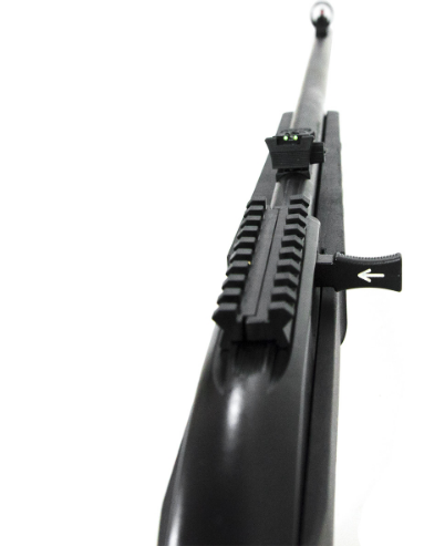 """Rifle CBC 7022 Way - Calibre .22LR - Cano 21""""- Coronha Thumbhole Polipropileno Preta - Oxidado"""