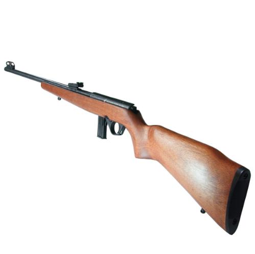 "Rifle CBC 8122 Bolt Action - Calibre .22LR - Cano 23"" Oxidado - Madeira"