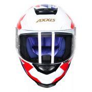 Capacete Axxis Eagle Diagon Gloss Branco Azul Vermelho Tamanho 58