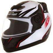 Capacete De Moto Evolution G6 788 Factory Edition Branco/Vermelho