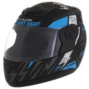 Capacete de moto Evolution G6 788 Factory Racing azul