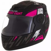 Capacete de moto Evolution G6 788 Factory Racing rosa