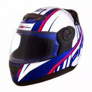 Capacete De Moto Evolution G6 788 Pro Color Branco/Azul