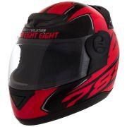 Capacete de Moto Evolution G6 788 Speed Preto/Vermelho