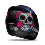 Capacete de Moto Evolution G7 Mexican Skull Preto