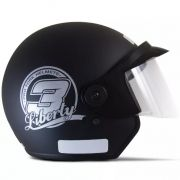 Capacete De Moto Liberty 3 Preto Fosco