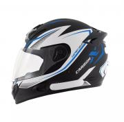 Capacete De Moto Mixs MX2 Carbon Preto/Azul
