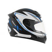 Capacete De Moto Mixs MX2 Carbon Preto Fosco/Azul