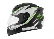 Capacete De Moto Mixs MX2 Carbon Preto Fosco/Verde