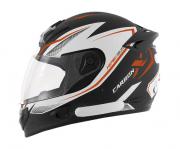 Capacete De Moto Mixs MX2 Carbon Preto/Laranja