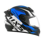 Capacete De Moto Mixs Mx2 Storm Preto Fosco/Azul