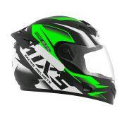 Capacete De Moto Mixs MX2 Storm Preto/Verde