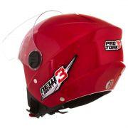 Capacete De Moto New Liberty 3 Vermelho