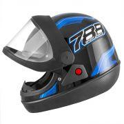 Capacete de moto New Sport Moto Preto/Azul