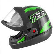 Capacete de moto New Sport Moto Preto/Verde