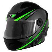 Capacete de moto R8 cinza/verde