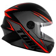 Capacete De Moto R8 Cinza/Vermelho